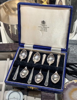 Vintage Silver Plated Tea Spoon Set - Hardy Brothers - Original Box