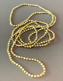 BECKER MINTY Long Strand Green Freshwater Pearl Necklace - 7-8mm -Wear Long or as a Double Strand