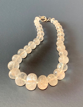 BECKER MINTY Clear Quartz and Sterling Silver Sphere Necklace - Mid Length