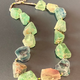 BECKER MINTY Raw Flourite and Tiny Faceted Pyrite Necklace- Sterling Silver Clasp - Short