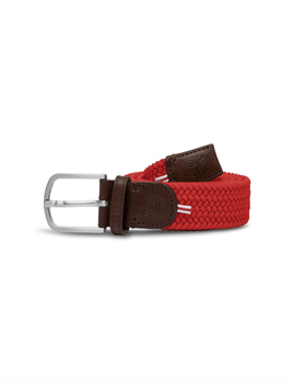 Until/See Concept LA Boucle Originale - Brussels -  Stretchable Woven Belt Made To Fit Many Sizes - Red