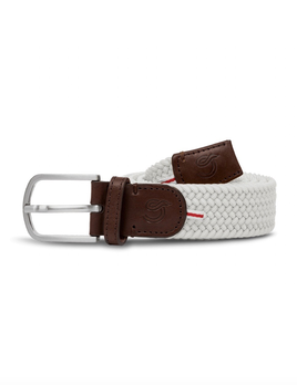 Until/See Concept LA Boucle Originale - Lisbon - Stretchable Woven Belt Made To Fit Many Sizes - Wht