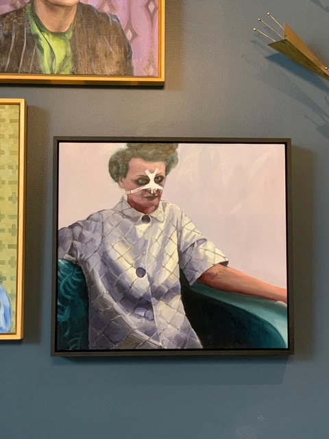 James King - Nose Job 2019 - Oil on Board - 53xH47.5cm Framed