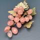 BECKER MINTY Vintage Rose Quartz Grapes c1970