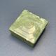 BECKER MINTY Vintage Green Square Bakelite Box 8.5x8.5cm