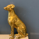 BECKER MINTY Vintage Brass Dog - Sitting - H17cm