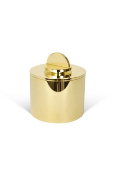 Les Few Armance Large Solid Brass Box with Lid - Antracite Interior - D10 cm x H10 cm - Swedan