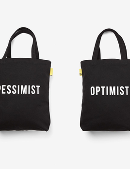 The School of Life The School of Life - Optimist/Pessimist Tote