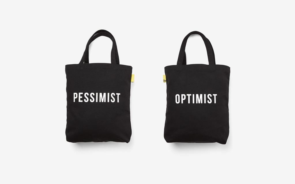 The School of Life The School of Life - Optimist/Pessimist Tote