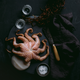 LUC LUCASA Napkins - Set of 4  Octopus  - Photographed by Tasmanian photographer Samuel Shelley and styled by food-stylist Michelle Crawford 50x50cm