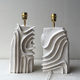 Elsa Foulon Ceramic Lamp Base by Elsa Foulon for Becker Minty - White - Handmade in France