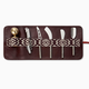 Mantidy Mantidy - Herringbone Cheese Wine Roll with Set - Black /Bordeaux Red Leather