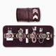 Mantidy Mantiday - Gaucho Tech Roll Mobile Phone Accessories Kit - Bordeaux Red Leather with Chevron