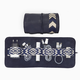 Mantidy Mantiday - Gaucho Tech Roll Mobile Phone Accessories Kit - Navy Blue Leather with Chevron