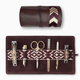 Mantidy Mantidy - Gaucho Grooming Roll with Manicure Set -  Bordeaux Red with Chevron