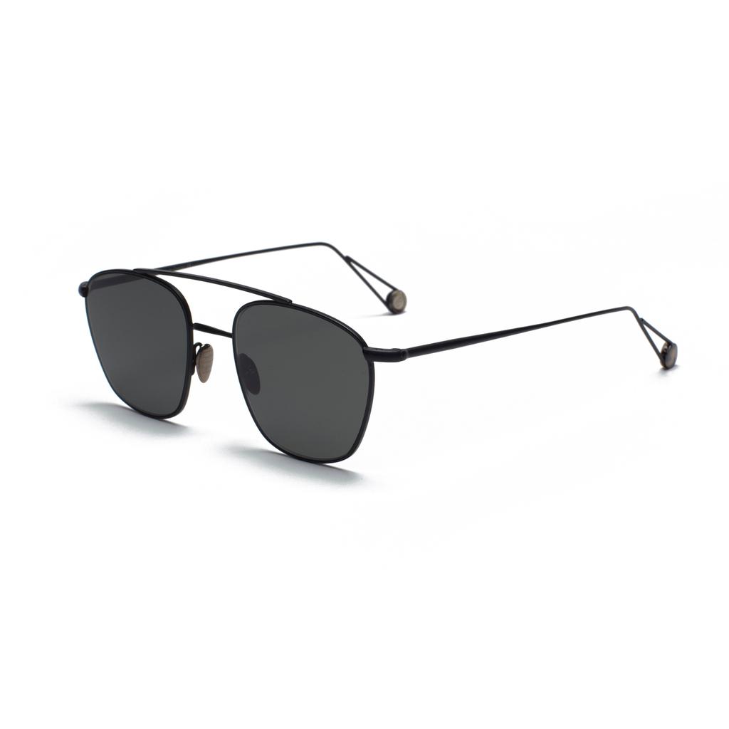 Proper Goods Ahlem Eyewear - Ecole Sun - Matte Black - Handmade in France