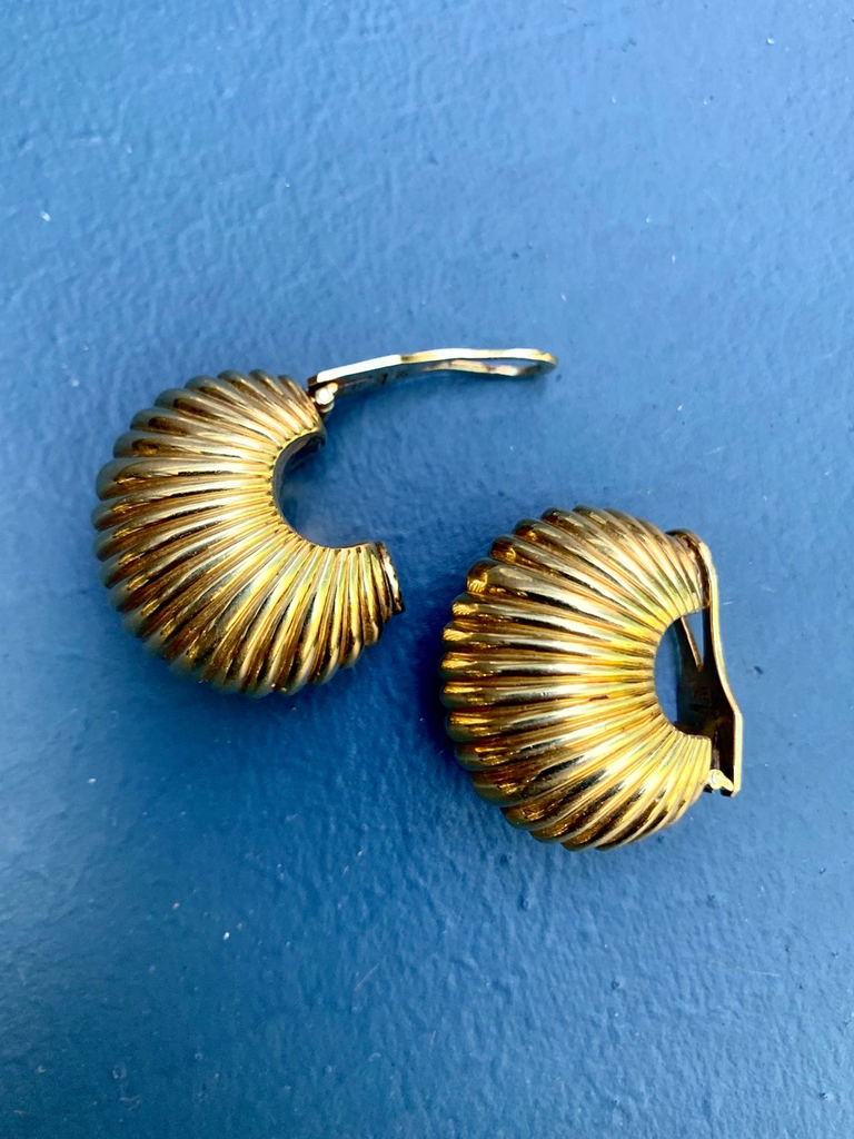Vintage Cartier 18ct Yellow Gold Clip on Earrings - c1980