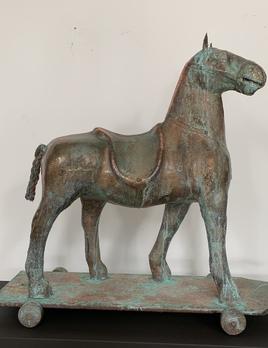 Thomas Bucich - EquusAntique Childs Toy, Copper Plated 75 x 77 x 28 cm
