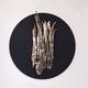 Thomas Bucich - Relic - Nickel, Round Bark, nickel, paint on board, framed 90 cm