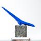 Thomas Bucich - Relic XVI - Blue / Nickel - Nickel electroplated wood, pigment, bark 55 x 55 x 14 cm