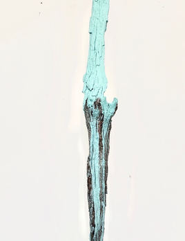 Thomas Bucich - Standing Relic - Oxide Nickel - Wood, Electroplated Nickel, Acrylic Paint 211 x 31 x 24 cm