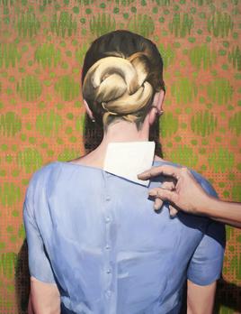 James King - Wall Flower #1 2019 - Oil on Canvas - <br /> 83.5xH93cm Framed