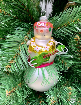 December Diamonds Snowman Hula Christmas Decoration