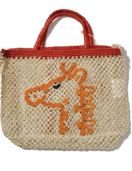Deacon MD Girraffe Jute Bag - Designed in Notting Hill, Handmade by Women in Bangladesh - Approx 44x42x10cm