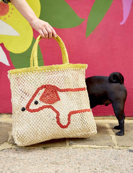 Deacon MD Sausage Dog Jute Bag - Designed in Notting Hill, Handmade by Women in Bangladesh