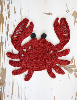 Deacon MD Crab Placement - Designed in Notting Hill, Handmade by Women in Bangladesh - Approx 30x30cm