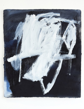 Antonia Mrljak - We should be careful - Acrylic, Charcoal and Ink on Rag Paper - 50 x 53cm - Black Box Frame Non Reflective