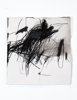Antonia Mrljak - Better keep moving - Charcoal and Ink on Rag Paper - 43 x 44cm - Black Box Frame Non Reflective Glass