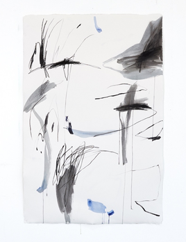 Antonia Mrljak - The idea of the space between - Acrylic, Ink and Charcoal on Rag Paper - 99 x 140cm - Black Box Frame Non Reflective Glass