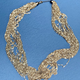 Vintage Gold Toned Multi Strand Chain Necklace