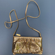 Vintage Whiting and Davis Gold Toned Mesh Cross Body Evening Bag c1970