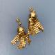 Vintage Gold Toned Mesh Tassel Earrings