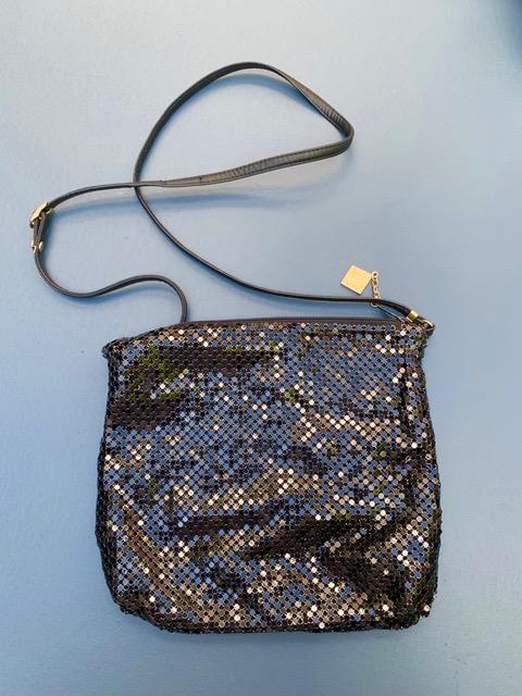 BECKER MINTY Vintage Original Black Whiting and Davis Mesh Shoulder Bag - USA