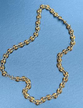 Vintage Gold Toned Necklace - Multi Link/Knots