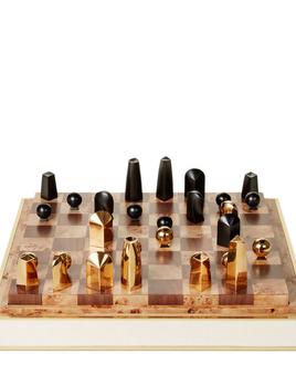 AERIN - Cream Embossed Shagreen Chess Set