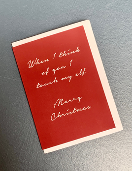 BECKER MINTY When I think of you I touch my Elf - Merry Christmas - Pack of 6 Greeting Cards