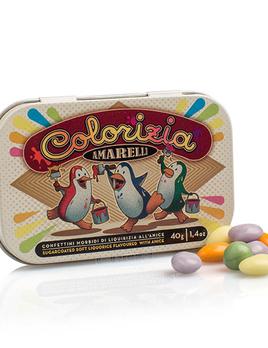 Casa Italia Amarelli Colorizia Liquorice Penguin Tin - 40g