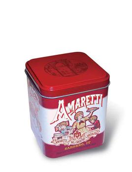 Casa Italia Chiostro Amaretti Crunchy Mini Cube Tin - 50g