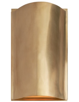Kelly Wearstler Kelly Wearstler - Avant Small Curve Sconce in Antique-Burnished Brass with Frosted Glass