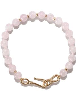 Spiritus Stones - Universal Love Bracelet with Madagascar Rose Quartz & 14ct Gold (Hook Clasp)