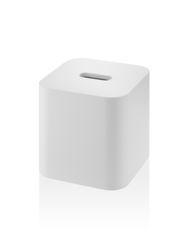 DW - Stone Tissue Box - Square - White - Germany