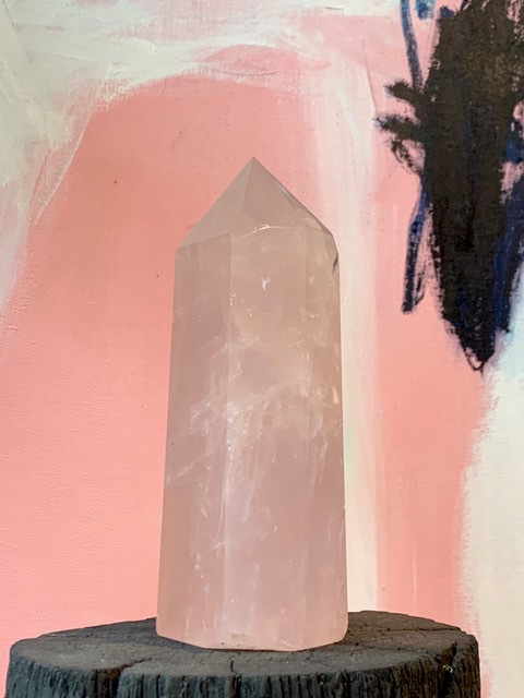 Rose Quartz Point H21cm. Approx