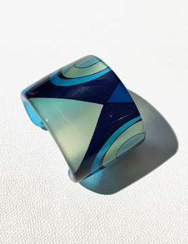 BECKER MINTY Sanalitro Acrylic Cuff with Internal Silk Pucci Fabric - Milan, Italy