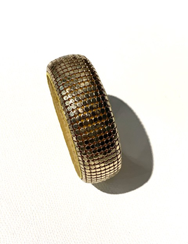 Vintage Gold Toned Mesh Bangle
