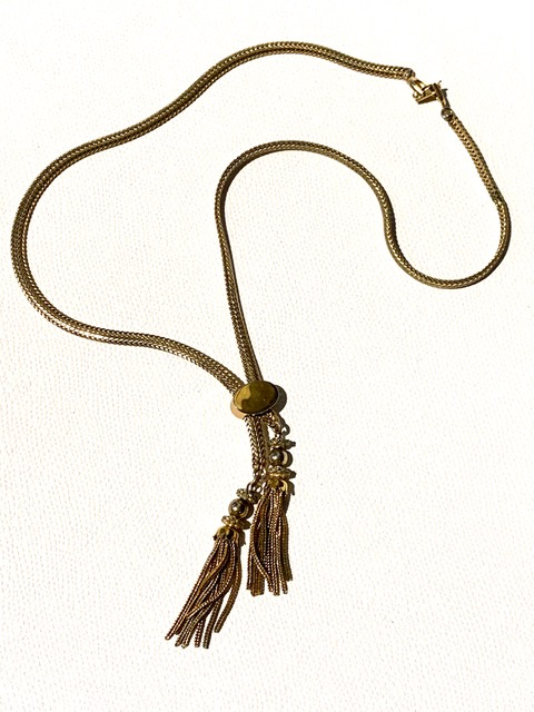Vintage Gold Toned Adjustable Neckalce