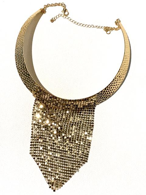 Vintage Gold Toned Mesh Collar